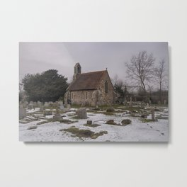 Seasalter Old Church In Winter Metal Print