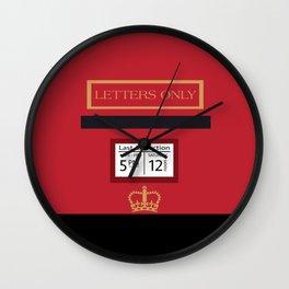 Red Post Box Wall Clock