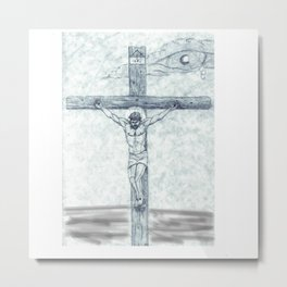 I preach Christ & Christ Crucified Metal Print