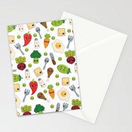 Cute Kawaii Food Pattern Stationery Cards