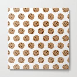 Chocolate Chip Cookies Pattern Metal Print