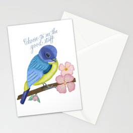 Spring, Bird and Calligraphy Stationery Cards