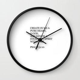 Psalm 51:10 Wall Clock