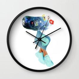 Blule creature w/ big heart Wall Clock
