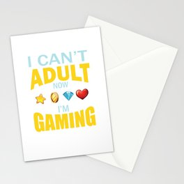 Game playing computer video Fun Addiction gift Stationery Cards
