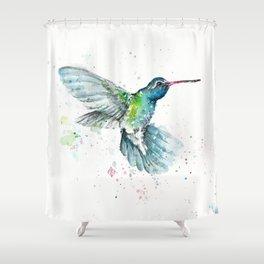 Hummingbird Flurry Shower Curtain