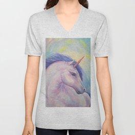 Purple Unicorn Dream Unisex V-Neck