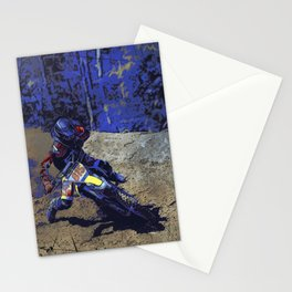 Leaning In - Motocross Racer Stationery Cards
