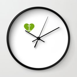 I Heart Jasmine   Love Jasmine - Flower Wall Clock