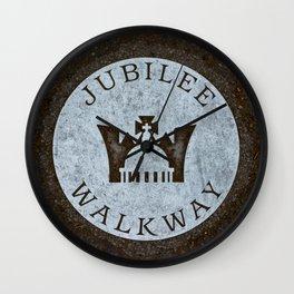 Queen's Jubilee Walkway Silver Walking Path near Buckingham Palace London England Wall Clock