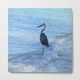 Oceans Great Blue Heron Metal Print