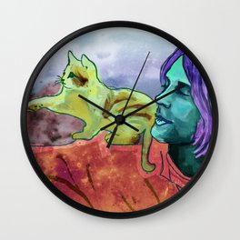 Kurt & Kitten Wall Clock