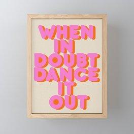 Dance it out Framed Mini Art Print