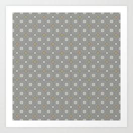 Grey Mosaic Art Print