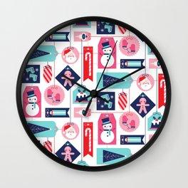 Christmas Tags Wall Clock