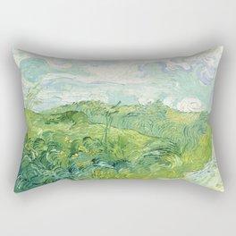 """Vincent Van Gogh """"Green Wheat Fields, Auvers"""" Rectangular Pillow"""