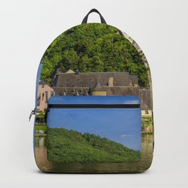Germany Beilstein Hill Riverboat Coast Rivers Houses Cities river Building Backpack