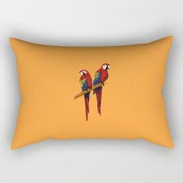 Loving Scarlet Macaws Rectangular Pillow