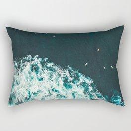 Aerial Ocean Photography Nature Rectangular Pillow