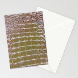 Reptile Skin - Alligator / Crocodile Silver Metallic Stationery Cards
