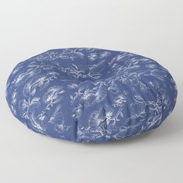 deep blue pohutukawa flower Floor Pillow