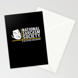 National Sarcasm Society - Funny Wordplay Punny Meme Illustration Stationery Cards