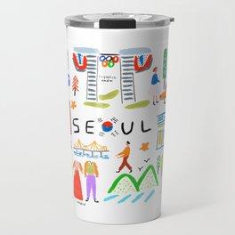 Colorful Seoul Travel Mug