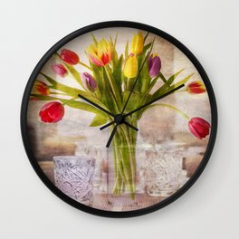 Tulips Wall Clock