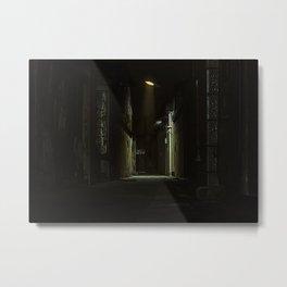 Night street, city light, no people, empty (Nantong, China) (2015-7NN-NS) Metal Print