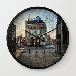 The Town Hall At Abingdon Wall Clock