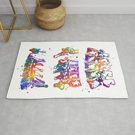 Vertebra Art Cervical Thoracic Lumbar Vertebrae Spine Art Colorful Watercolor Gift Anatomy Art Rug