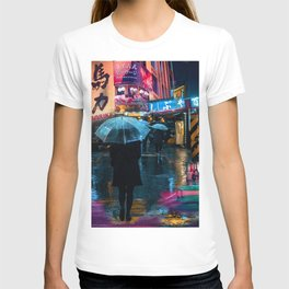 Japan street night T-shirt