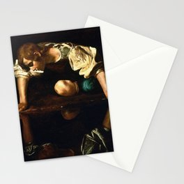 Narcissus By Caravaggio Stationery Cards