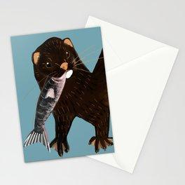 Clever Mink ( Neovison vison) Stationery Cards