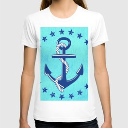 Nautical Anchor with Stars T-shirt