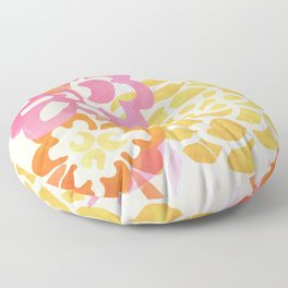 Summer Floral / Pink and Gold Floor Pillow