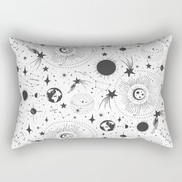 Solar System - White Rectangular Pillow