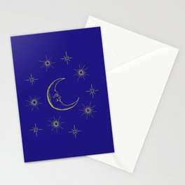 Vintage Celestial Moon & Stars Stationery Cards