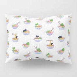 Send Noods - Ramen Noodles On Grey and White Pillow Sham