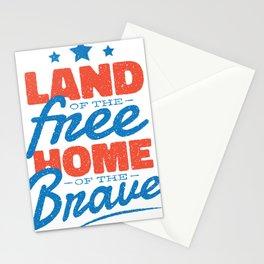 Land der Freiheit quote Stationery Cards