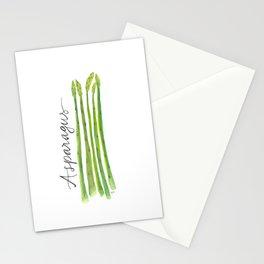 Asparagus Garden Art Stationery Cards