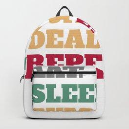 Eat Sleep Sumo Deadlift Repeat Backpack