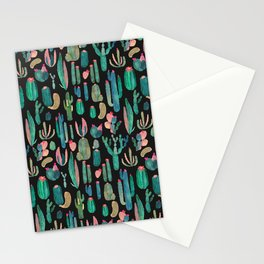 cactus in the nigth Stationery Cards