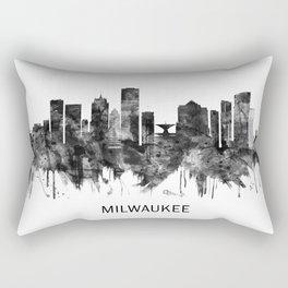 Milwaukee Wisconsin skyline BW Rectangular Pillow