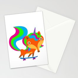 Foxicorn Stationery Cards