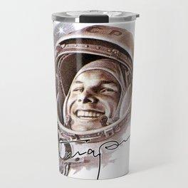 USSR CCCP Space Astronaut Yuri Gagarin Travel Mug