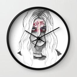 Kill Me B/W Wall Clock