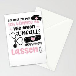 Sei Nett Zu Mir Ich Könnte Es Wie Einen Unfall Aussehen Lassen Stationery Cards