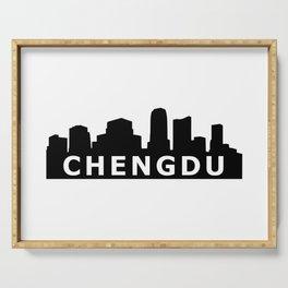 Chengdu Skyline Serving Tray