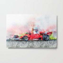 Niki Lauda No.12 Metal Print